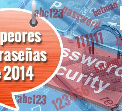 Las peores contraseñas de 2014