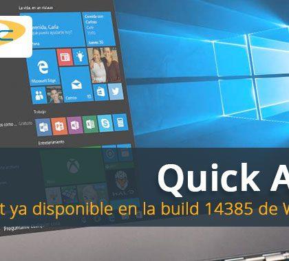Quick Assist ya disponible en la build 14385 de Windows 10