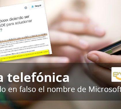 Estafa telefónica sobre falso soporte de Microsoft