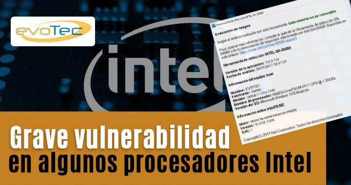 Grave vulnerabilidad en algunos procesadores Intel
